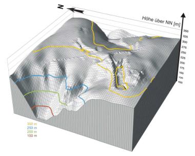 Geruchsgutachten Visualisiertes digitales Geländemodell
