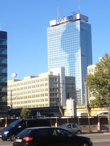 Verschattung durch den Fernsehturm Berlin am 10.Oktober 15.45 Uhr